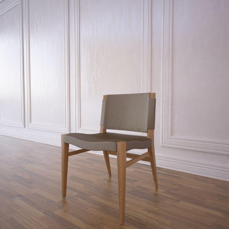 3d model bella chair