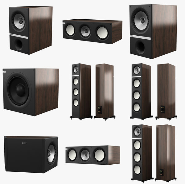 3ds max kef q series speakers