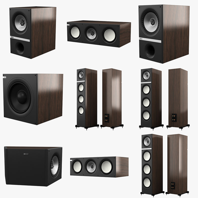 3ds max kef q series speakers