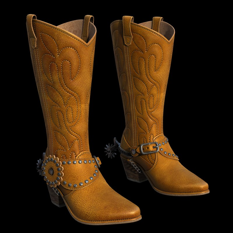 3d model western boots for New model boot
