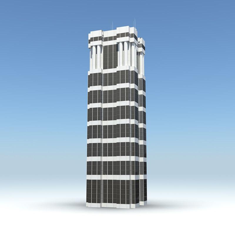 3d skyscraper 17 day night