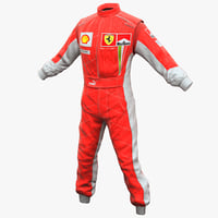 racing clothes ferrari 2 3d model