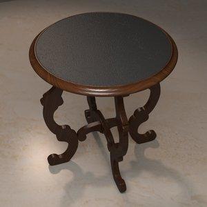 3d model circular end table