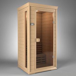 3d sauna model