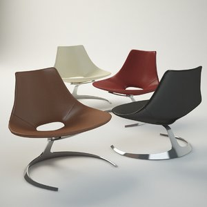 3d model jørgen scimitar chair furniture