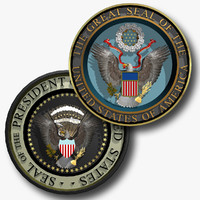 The Great Seal of the United States of America and The Seal of the President