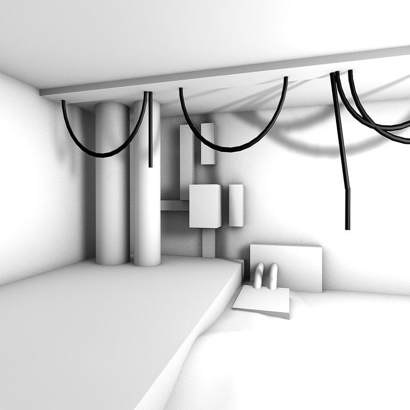 free c4d model scene select light