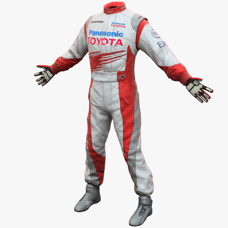3d racing driver clothes toyota model