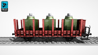 freight wagon ws 07 3d max