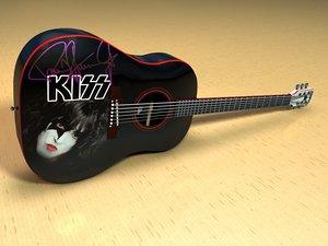 washburn ps9 guitar 3d 3ds