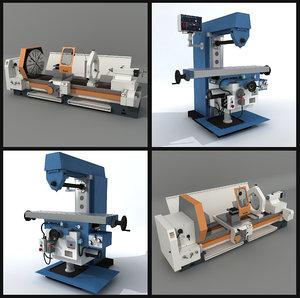 3d horizontal milling machine model