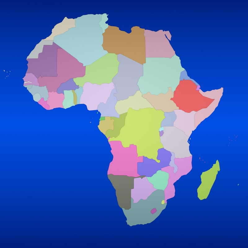 Map Of Africa 3d.Africa Country Max