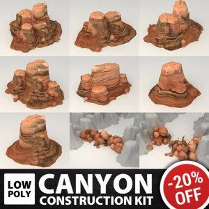 3d set canyon polys model
