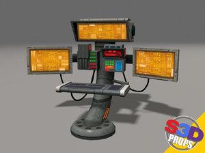 control panel 2 3d model