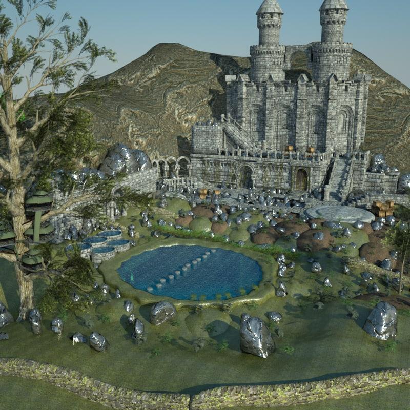 3d dragon construction kit fantasy model