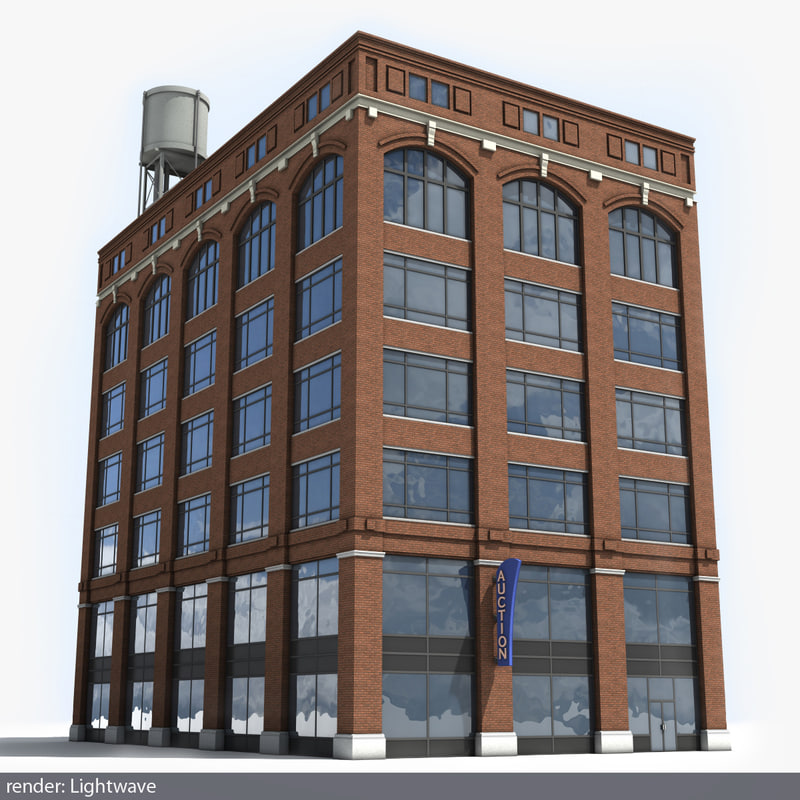 3d lwo detroit building
