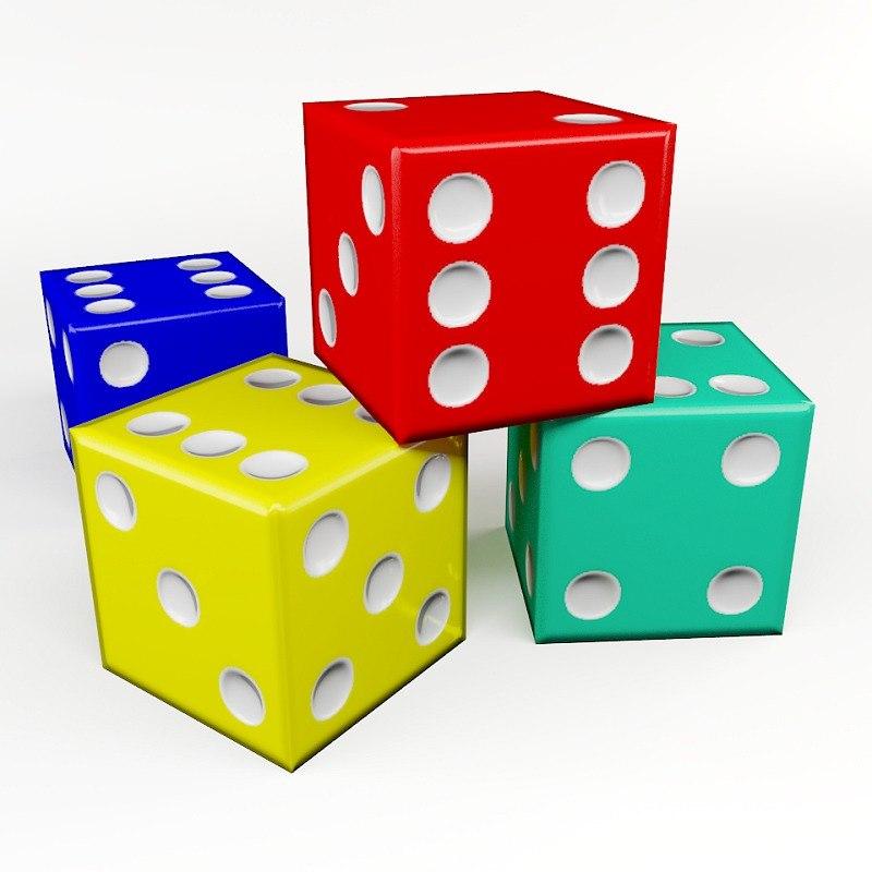 obj dice games cube