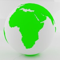 green world sphere 3d model