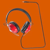 retro headphones 3 5mm 3d model
