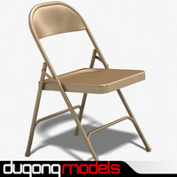 3d metal folding chair