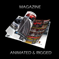 Magazine Opening Rigged Animated