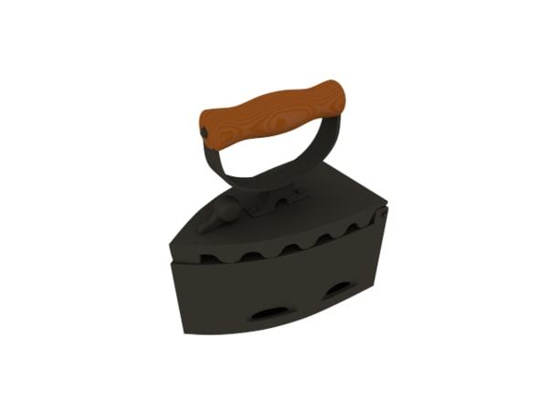 3d old coal iron