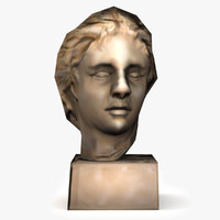 3d model alexander great bust statue
