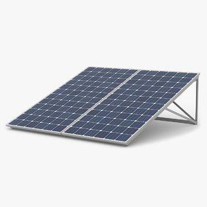 3d model solar panels