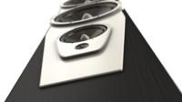 3d model loudspeaker center surround