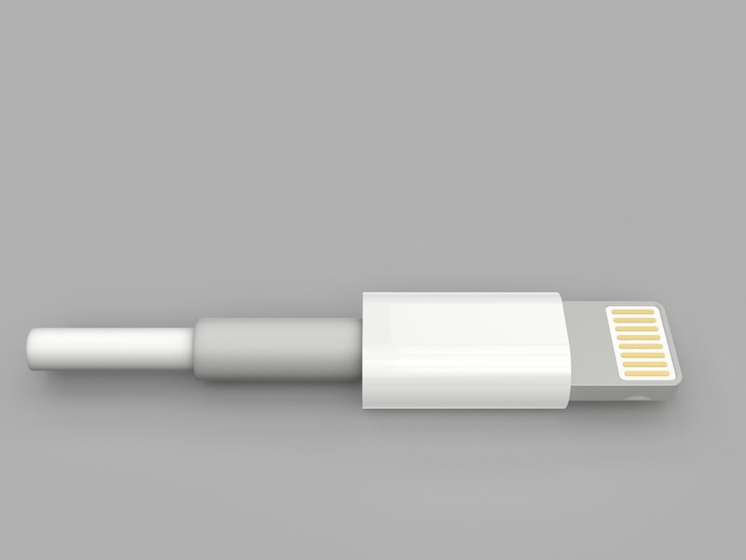 3d apple lightning cable