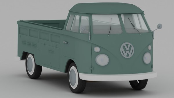 volkswagen type 2 pickup 3ds