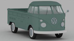 volkswagen type 2 pickup 3ds