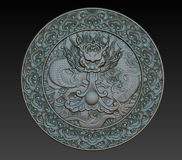 3d model chinese relief