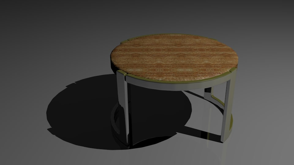 gold rimmed coffee table 3d model