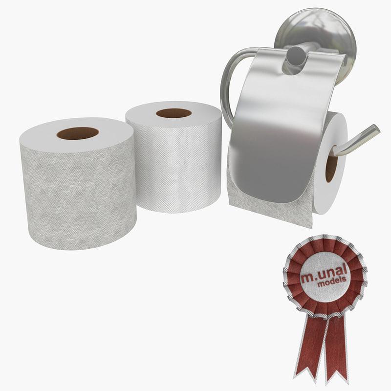 realistic toilet paper 3d max