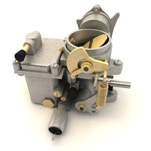 car carburetor c4d