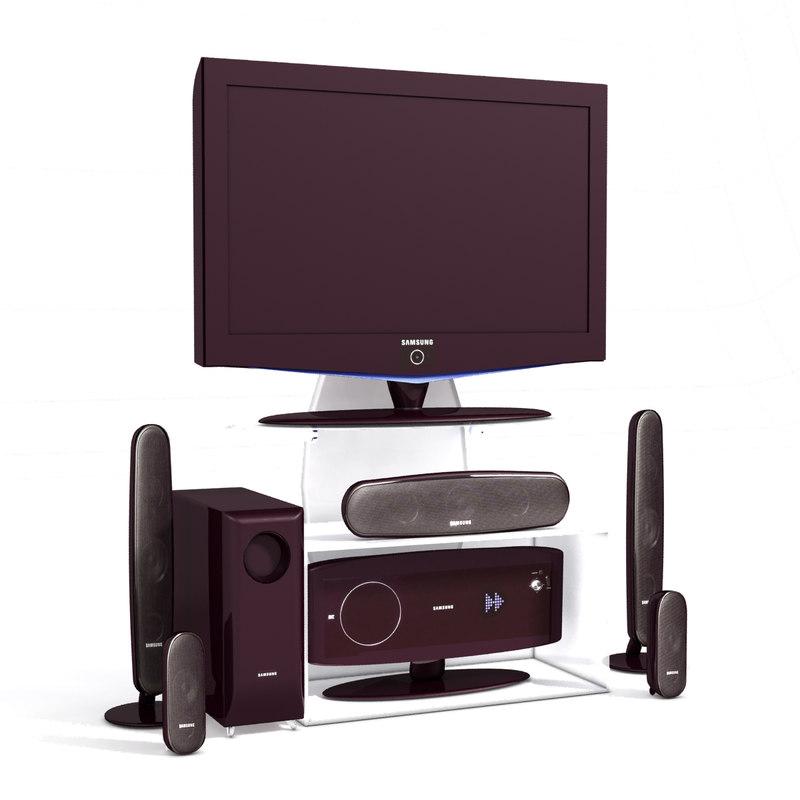 3d obj speakers plasma television