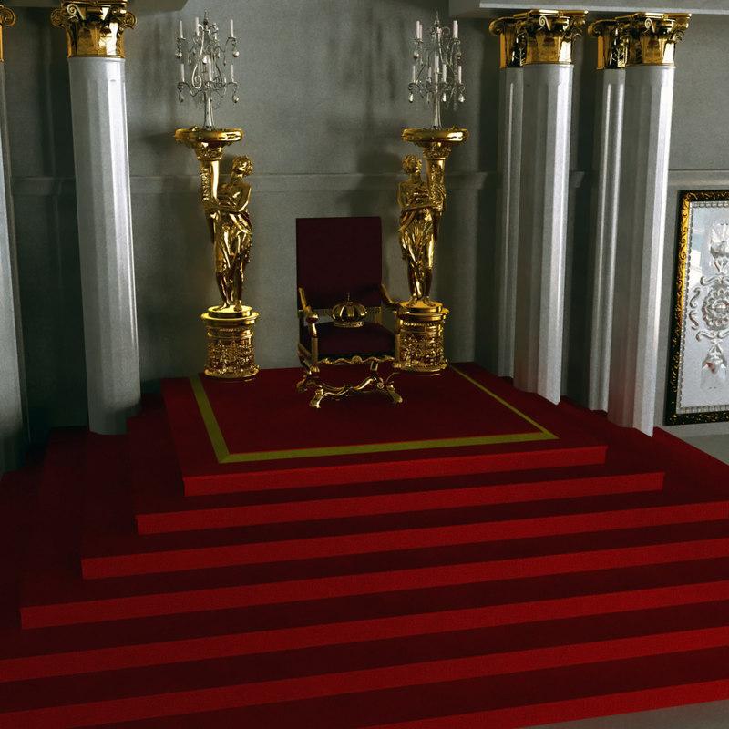 throne room 3d obj