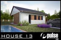 3d model family house