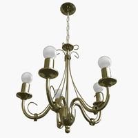 3ds chandelier lamp light
