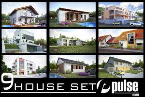 9 family house 3d model