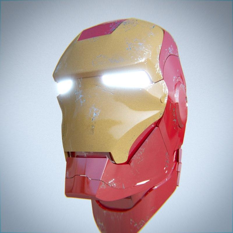 iron man helmet 3ds