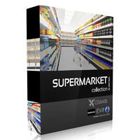 3d model of volume 32 supermarket market