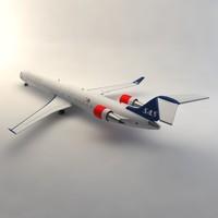 3d model bombardier crj 900 sas