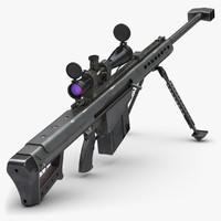 Submachine Gun Barrett M82A1