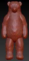 3d bear figure model