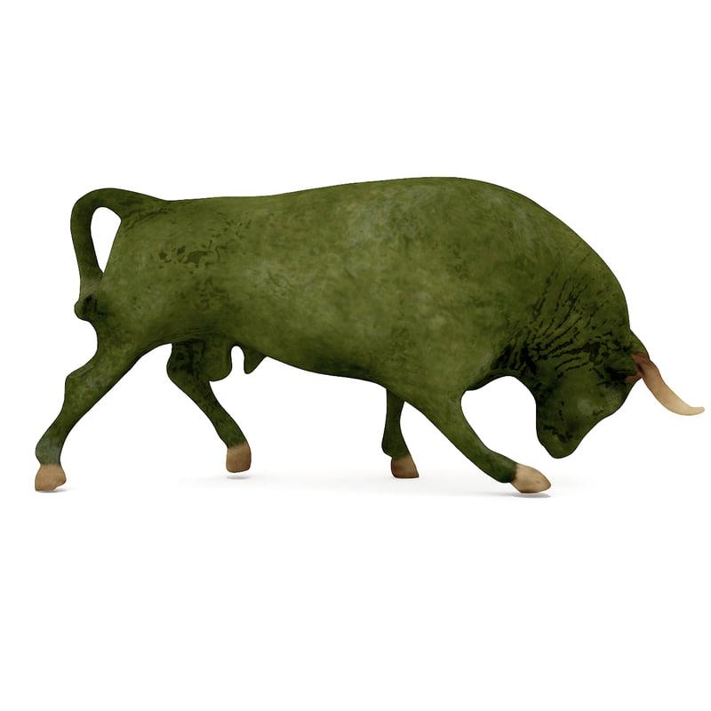bull sculpture replica 3d model