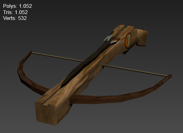 3ds max modelled crossbow medieval
