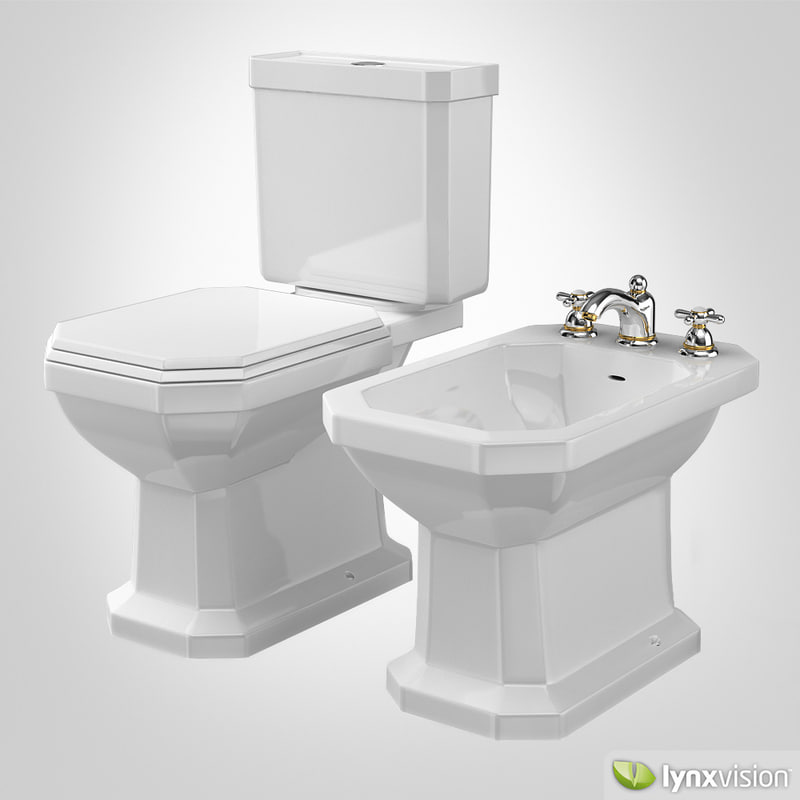 3d duravit bidet toilet 1930. Black Bedroom Furniture Sets. Home Design Ideas