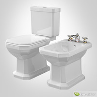 Duravit 1930 Collection Toilet and Bidet